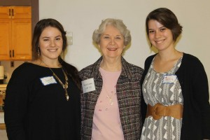 AAUW Missouri President, Diane B. Ludwig, MU student organization President, Amanda Showers, and Vice President, Jessica Rademacher attend the AAUW potluck dinner to kickoff the year.